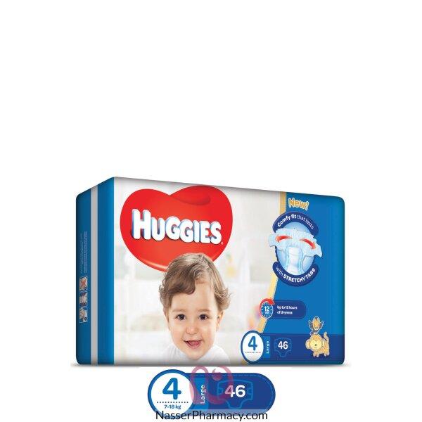 حفاضات هجيز Huggies - حجم وسط 4- العبوة الاقتصادية- 46 حفاض