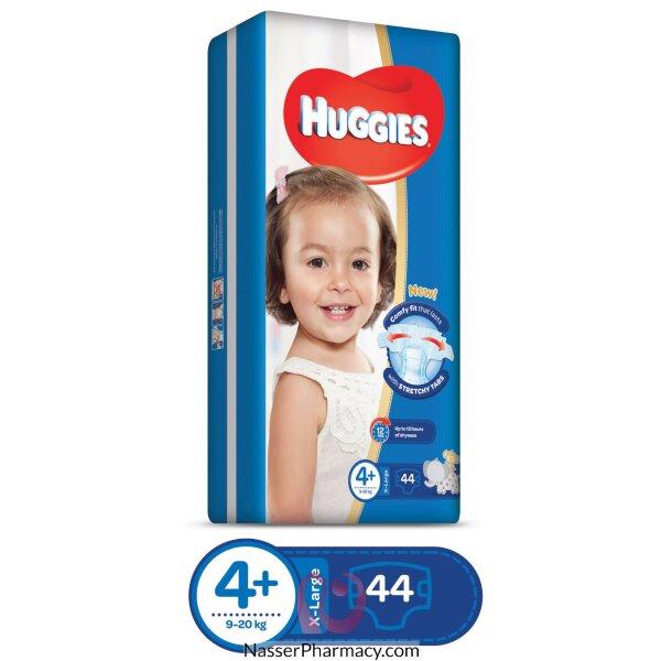 حفاضات هجيز Huggies  سوبر فليكس الإقتصادية للصغار بمقاس 4  - 44 قطعة