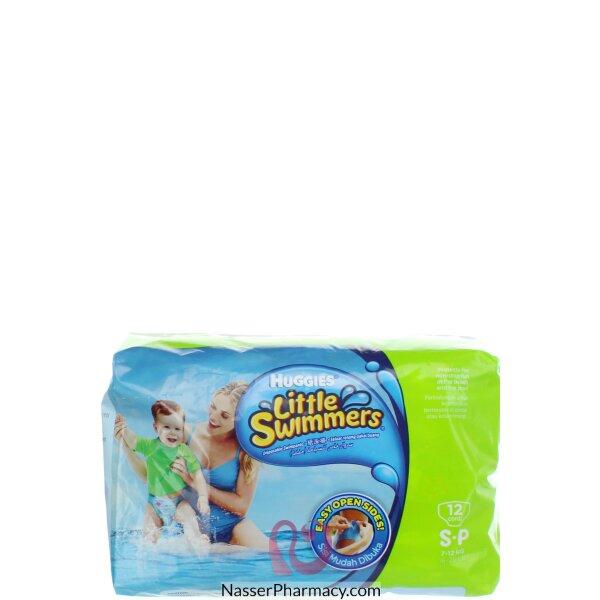 هجيز Huggies  حفاضات السباحة للأطفال - مقاس صغير - 12 قطعة