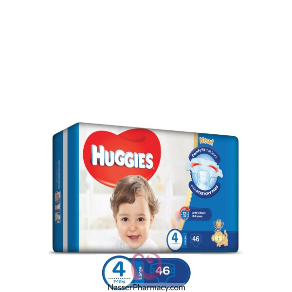 Huggies Economy Pack Large, Size 4 - 46 Diapers