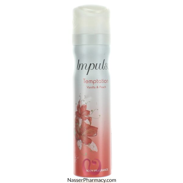 Impulse Body Spray Temptation - 75 Ml