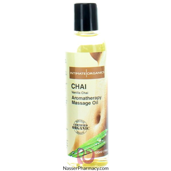 Intimate Organics Aromatherapy Massage Oil Vanilla Chai 120 Ml