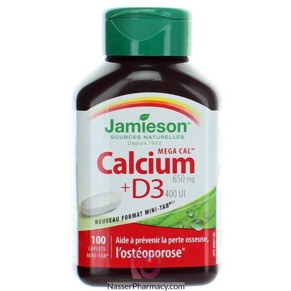 جاميسون ميغا كال Jamieson Mega Cal  ( كالسيوم+ فيتامين د) 100 كابسولة