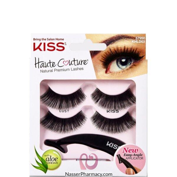 كيس Kiss Haute Couture رموش صناعية (2 عبوة) -  Khld03gt