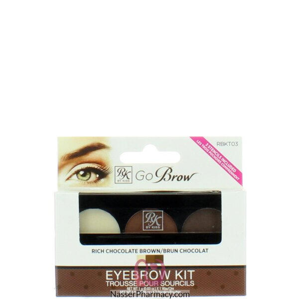 Kiss Rk Go Brow Kit Rich Chocolate Brown