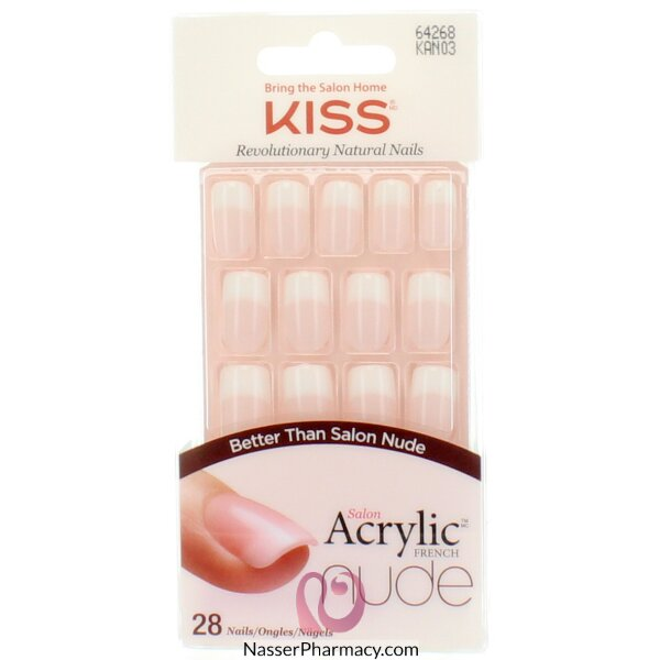 Buy KISS SALON ACRYLIC NUDE FRENCH NAILS-KAN03C From Nasser pharmacy ...