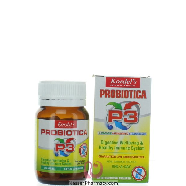 كورديلز بروبيوتيكا بي3 (kordels Probiotica P3 )( 30 كابسولة)