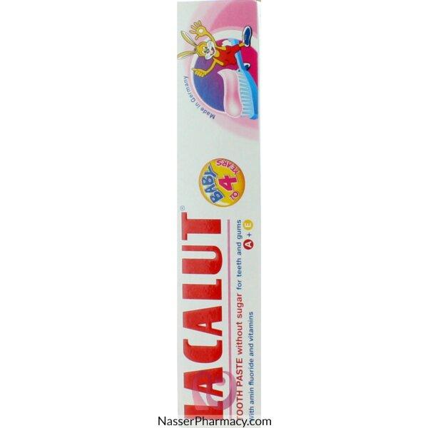 لاكالوت Lacalut  معجون أسنان للأطفال (0 - 4 سنوات)  50 مل