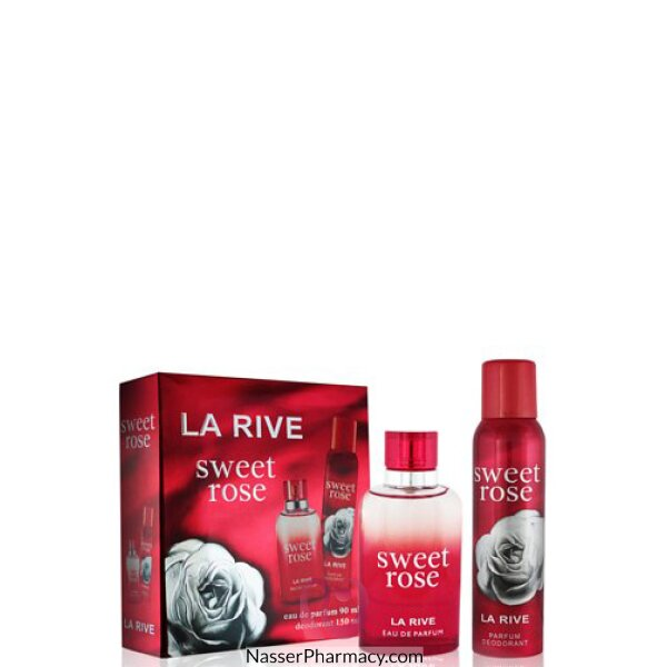Larive (w) Sweet Rose 90ml Edp + 150ml Deo