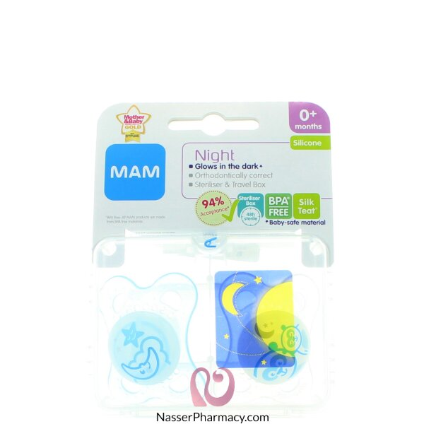 Mam Night Soother 0+months Twin Pack