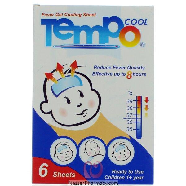 تمبو كمادات جل خافضة الحرارة للأطفال - 6 قطع