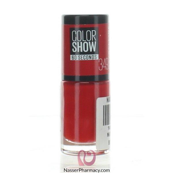 ميبيلين طلاء أظافر Color Show- لون  349 Power Red C