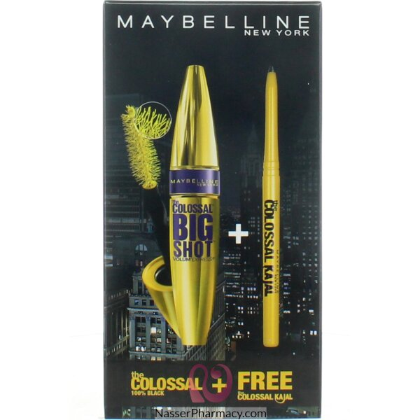 Maybelline Colossal Big Shot Mascara+free Kajal
