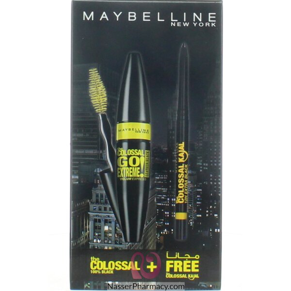 Maybelline Colossal Leather Black + Free Classic Kajal