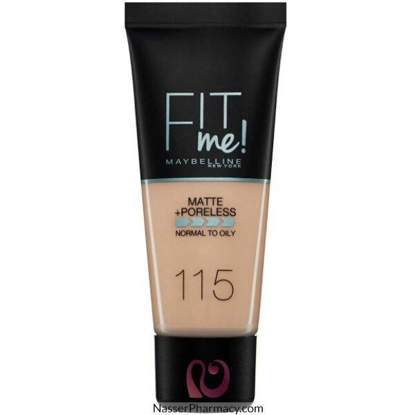 Maybelline New York Fit Me Matte & Poreless Foundation 115 Ivory 30ml