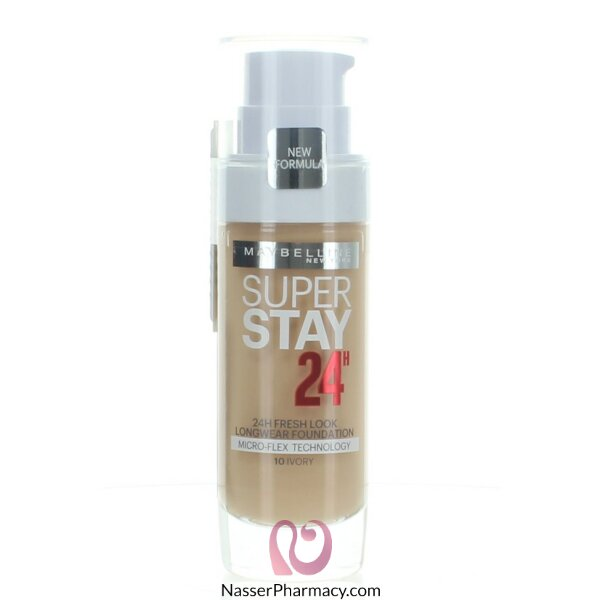 Maybelline Superstay 24hr Foundation -10 Ivory