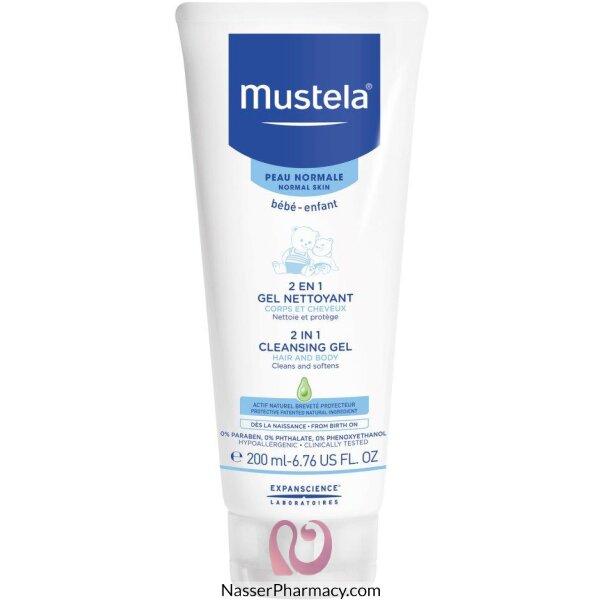 موستيلا Mustela  غسول الأطفال 2 في 1 للشعر والجسم 200 مل