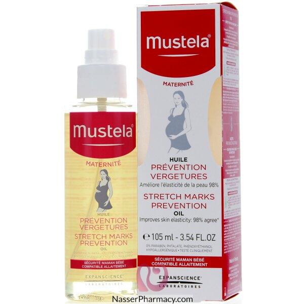 موستيلاmustela زيت للحد من علامات تمدد الجلد للحوامل 105 مل