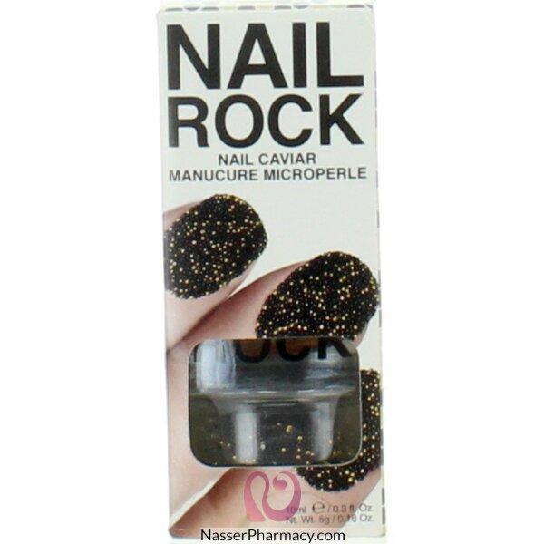بيتي روك  Beauty Rock مناكير الكافيار Jupiter-black &gold-nc005