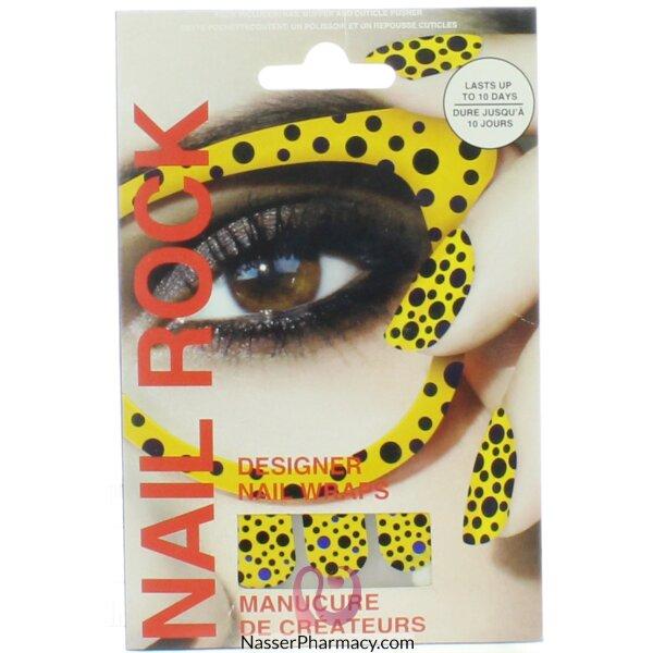 بيوتي روك Beauty Rock لاصقات أظافر Yellow-nr110