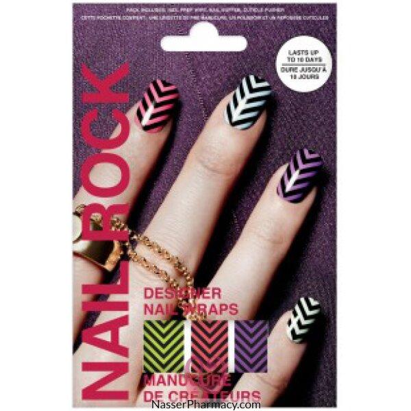Beauty Rock  Nail Wraps-aw Chevron-nr106