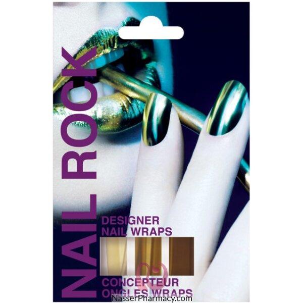 Beauty Rock Nail Wraps Metallic Gold-nr001