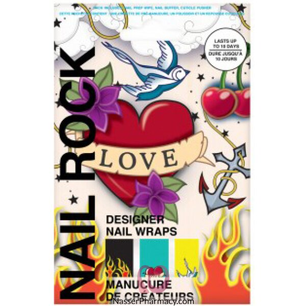 Beauty Rock Nail Wraps-tatoos-nr060