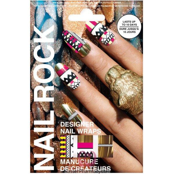Beauty Rock Nail Wraps-tribal Gold-nr061
