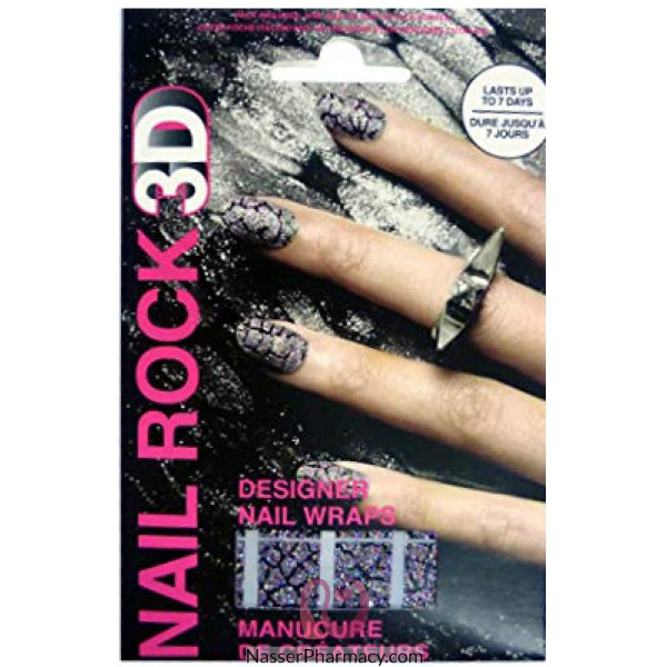 Rb Nail Wraps-glister Mix-nr3d003
