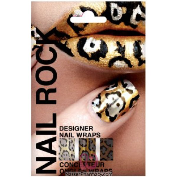 Rb Nail Wraps-gold, Blk Silv-nr027