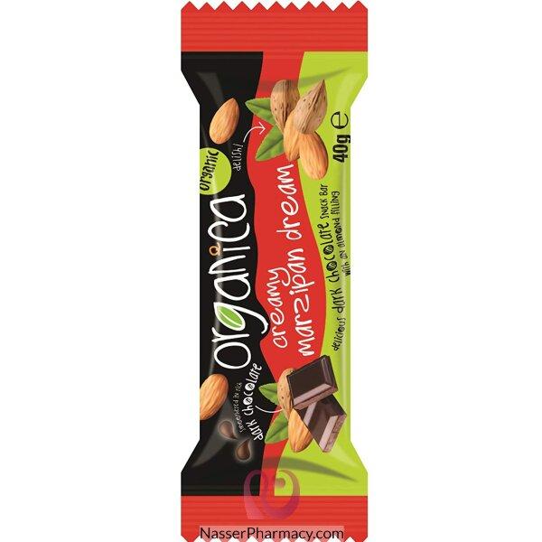 أورجانيكا شوكولاتة كريمية داكنة باللوز  40 جرام
