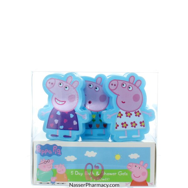 Peppa Pig 5 Days Bath & Shower Set 5x30ml