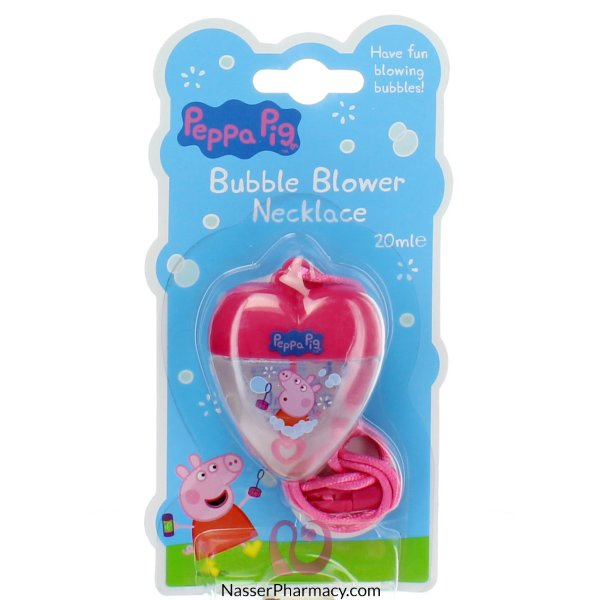 Peppa Pig Bubble Blower Necklace 20ml-59830