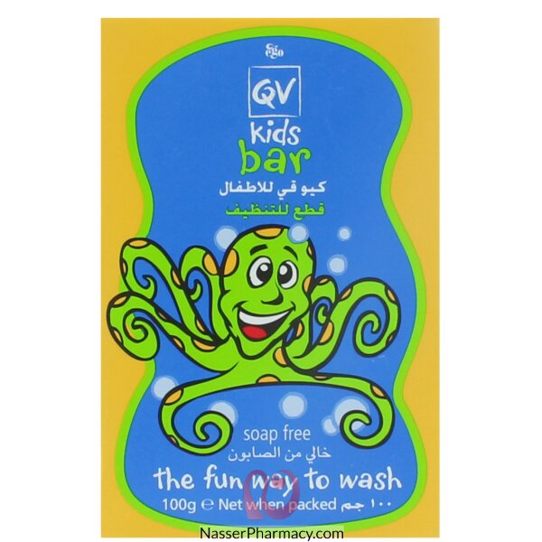 كيو في  Qv قطع تنظيف للأطفال خالى من الصابون - 100جم