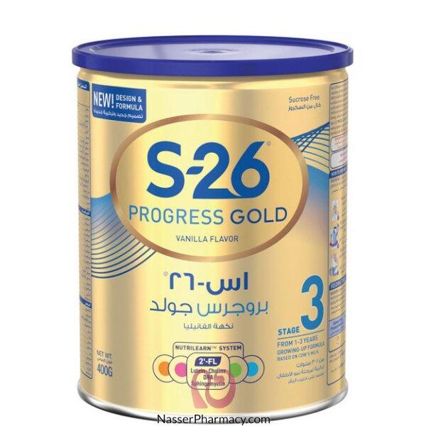 S26 Progress Gold Stage 3 Milk Powder ( 1- 3 Years) 400g