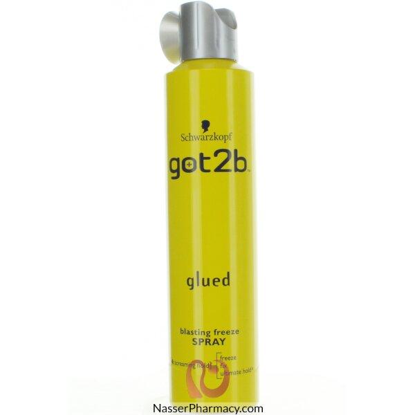 شوارزكوف Schwarzkopf Got2b Glued Blasting  لتثبيت الشعر سبراى 300 مل