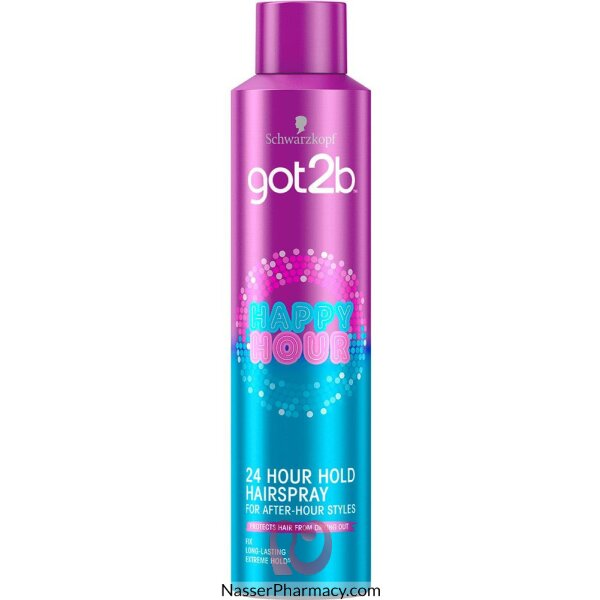 Schwarzkopf Got2b Happy Hour 24 Hour Hairspray - 300ml