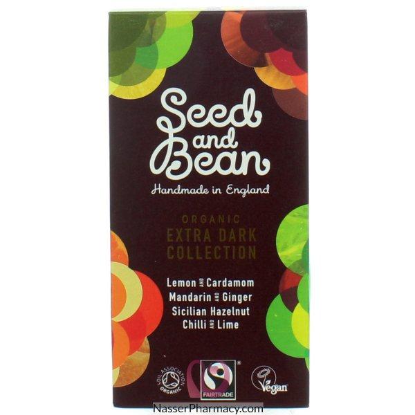 شيكولاتة ( Seed And Bean )   بنكهة مكونات داكنة اللون -4 قطع