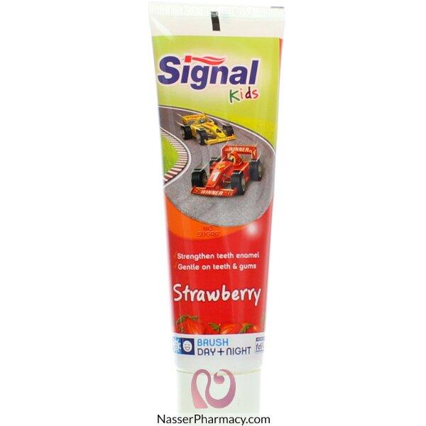 Signal T/paste Strawberry Cars 75ml