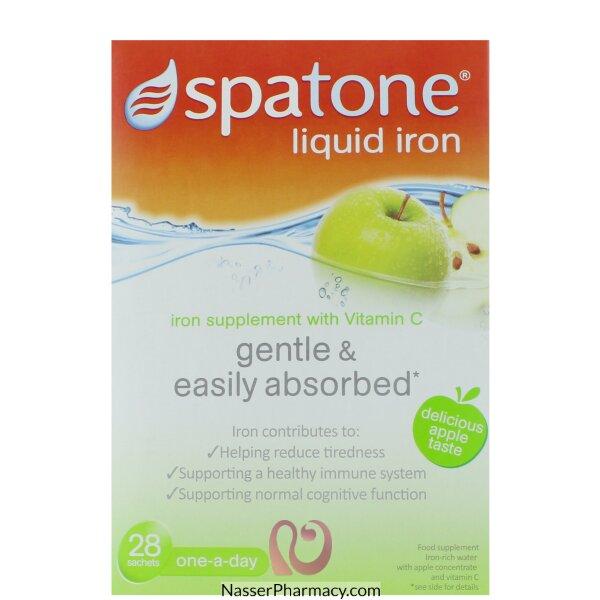 Spatone Liquid Iron Supplement Apple Taste - 28sachets