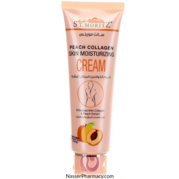 St.moritz Peach Collagen Cream Moisturizing 130g