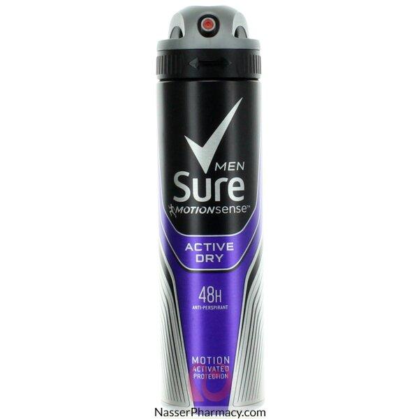 شور Sure Active Dry   مزيل ومضاد للعرق سبراى 150 مل