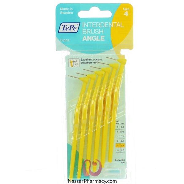 تي بي فرساة أسنان صغيرة (لتنظيف بين الأسنان)  لون أصفر 0.7 Mm