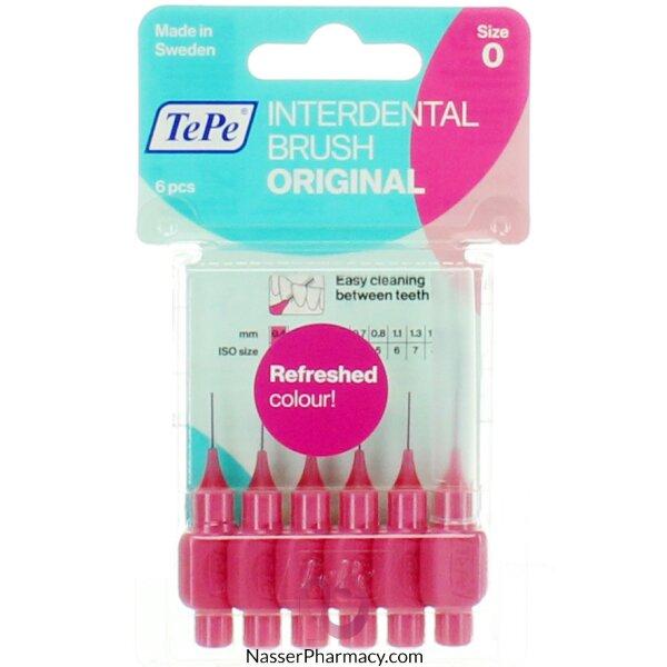 تي بي Tepe- فرشاة أسنان صغيرة (للتنظيف بين الأسنان) حماية لطيفة مجموعة وردية 0.4ملم