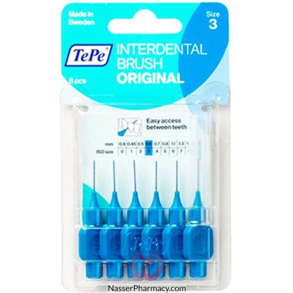 Tepe Interdental Brush Original/gentle Care Blue Blister 0.6mm