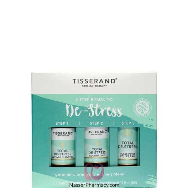 Tisserand 3 Step Ritual To De-stress Kit 2x9ml+1x10ml