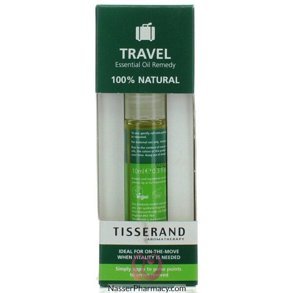 Tisserand Aromatherapy Travel Ease Essential Oil Roll On Remedy - 10 Ml