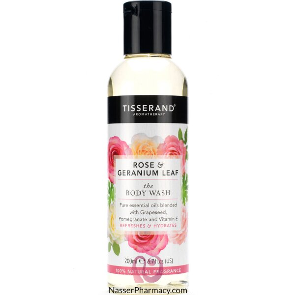 Tisserand Rose & Geranium Leaf The Body Wash 200ml