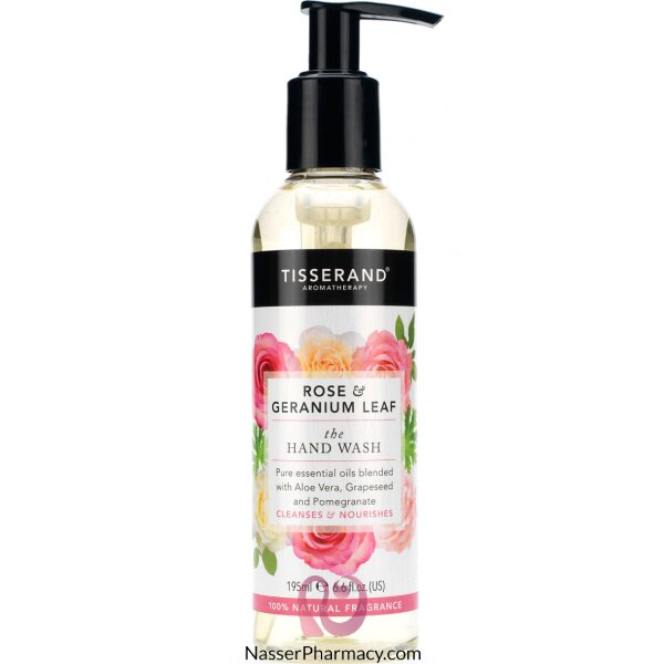 Tisserand Rose & Geranium Leaf The Hand Wash 195ml
