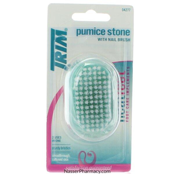 Trim Pumice Stone With Nail Brush
